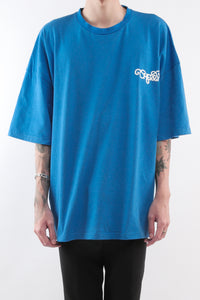 CHERRY DISCOTHEQUE - BIG BOY CUT NASA TEE IN COBALT BLUE