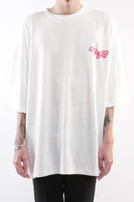 Load image into Gallery viewer, CHERRY DISCOTHEQUE - BIG BOY CUT TOUR TEE IN IVORY WHITE