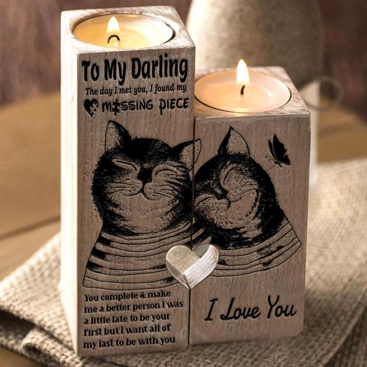 CAT TO MY DARLING LIMITED EDITION CANDLE HOLDER 💖