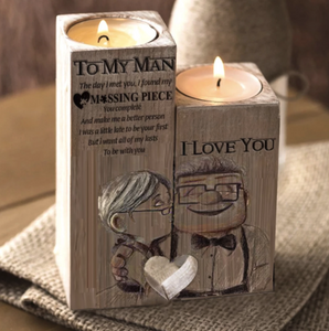 BTT To My Man - Candle Holder