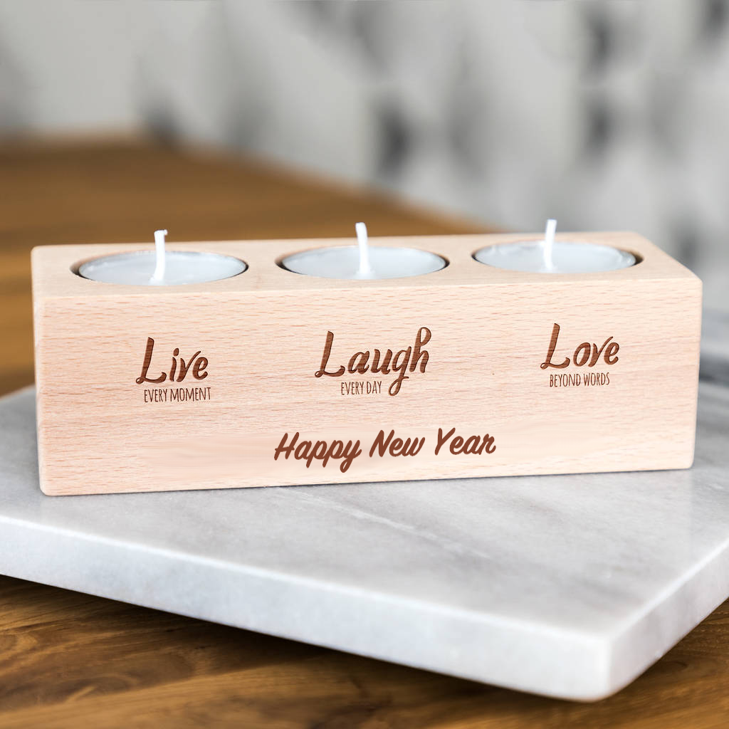 Live Laugh Love Candle Holder Gift