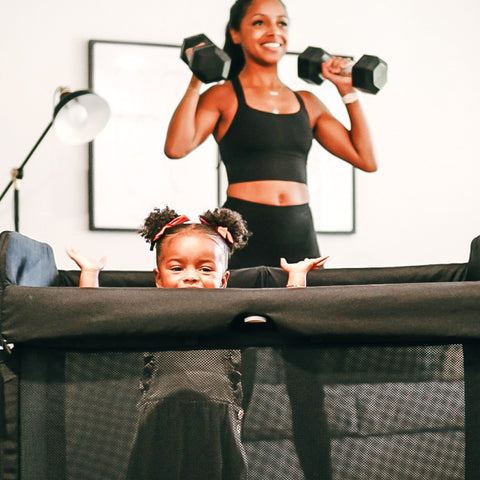 Postnatal exercise with your baby can be fun