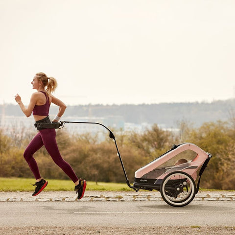 Jogging with your baby is a good example of postnatal exercise