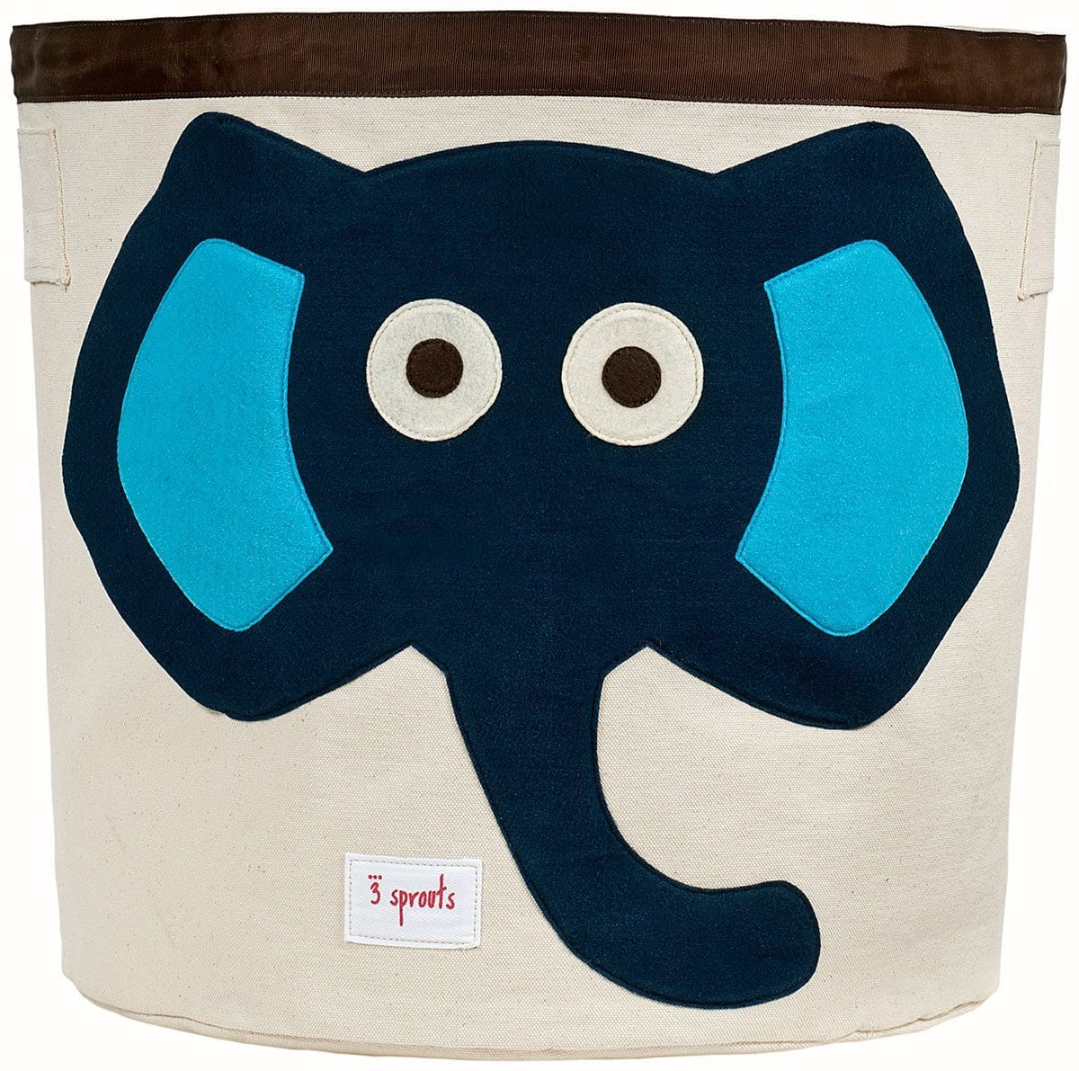 3 Sprouts Blue Elephant Storage Bin - huggle
