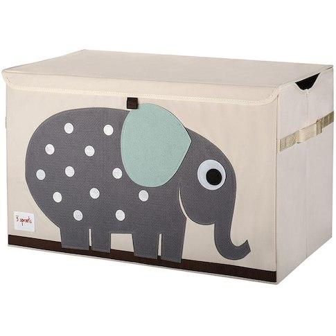 3 Sprouts Grey Elephant Storage Chest