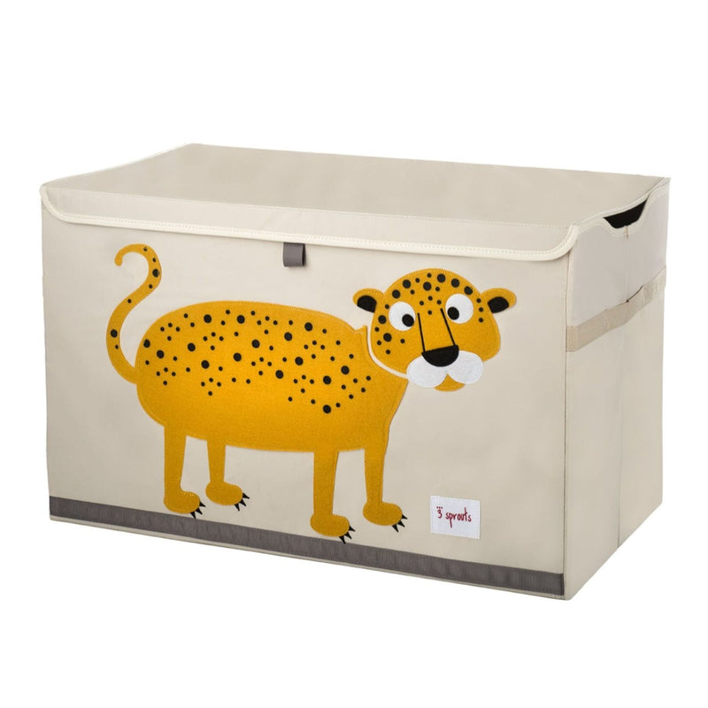 3 Sprouts Orange Leopard Storage Chest
