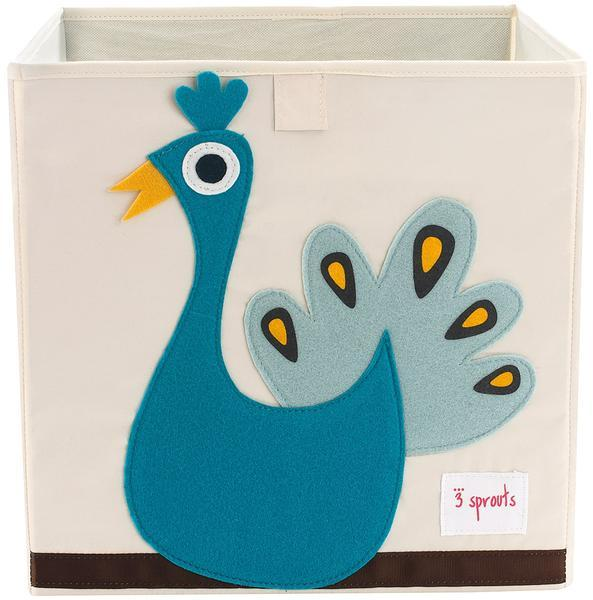 3 Sprouts Peacock Storage Box - huggle