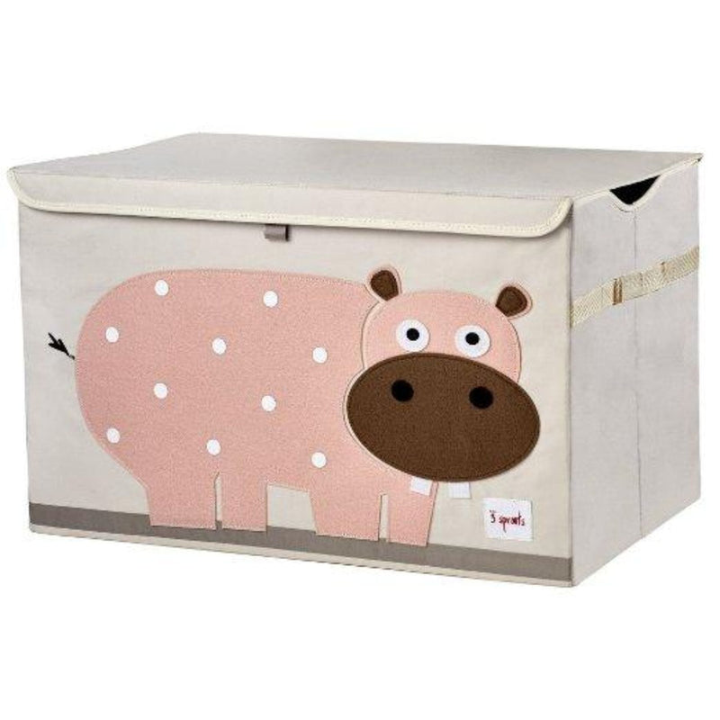 3 Sprouts Pink Hippo Storage Chest