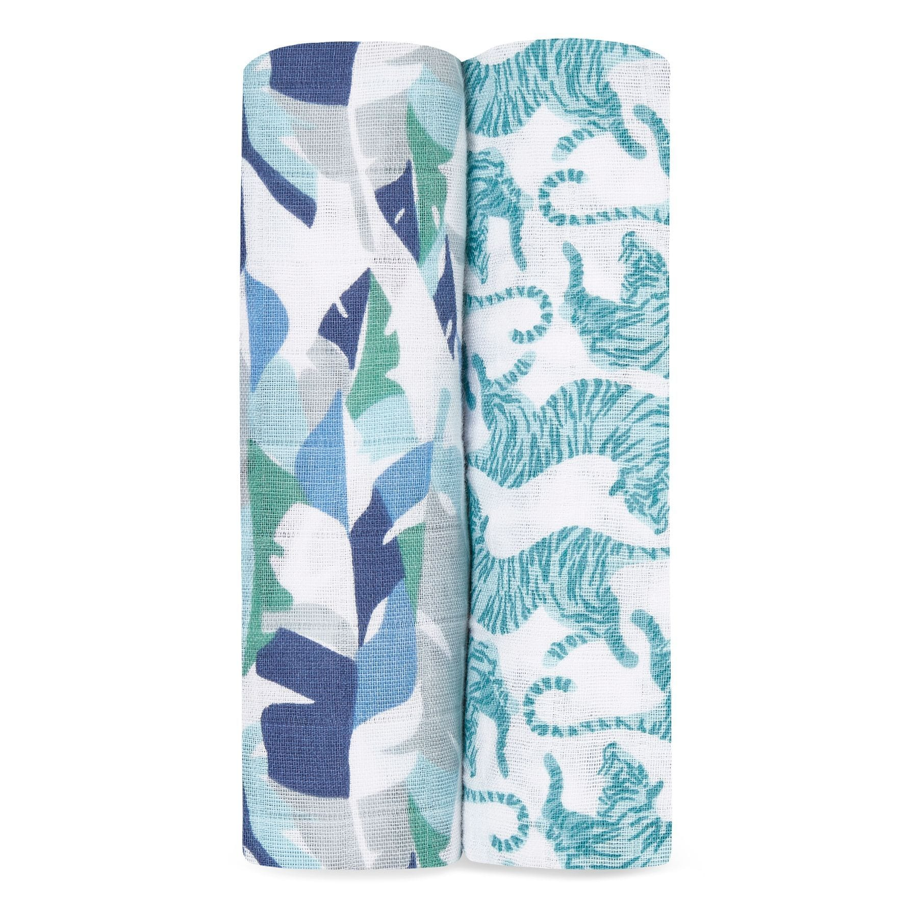 Aden & Anais 2 Pack Swaddle Wraps - Dancing Tigers