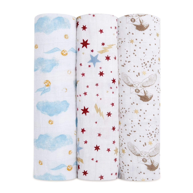 Aden & Anais 3 Pack Classic Swaddle Wraps - Harry Potter