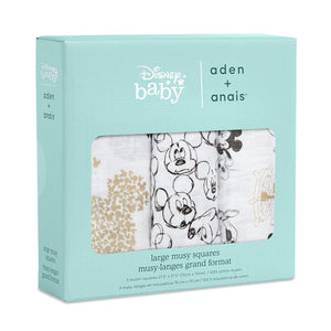 You added <b><u>Aden & Anais 3 Pack Muslin Squares - Disney Mickeys 90th</u></b> to your cart.