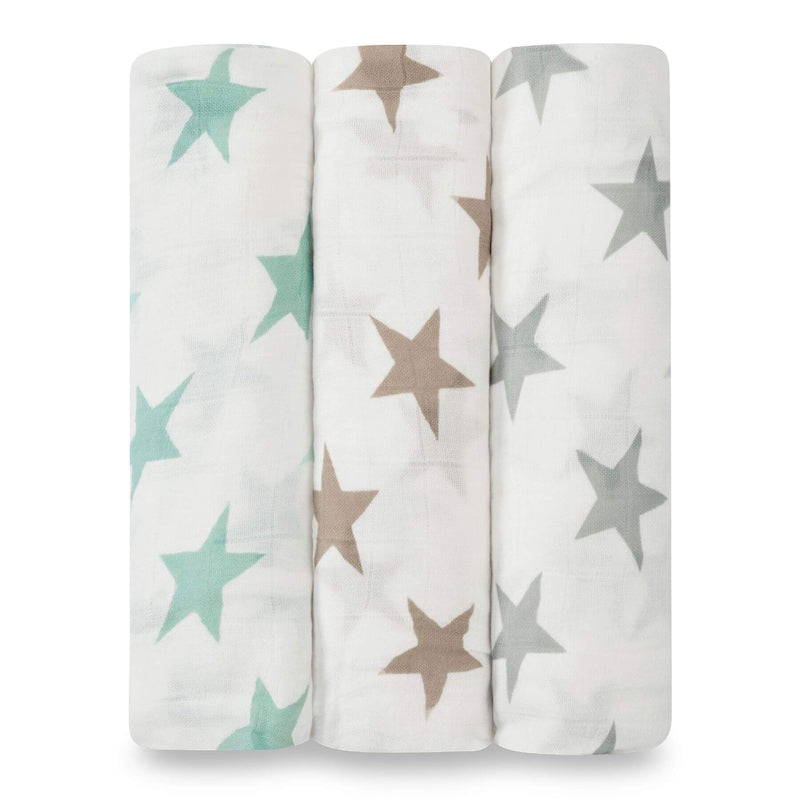 Aden & Anais 3 Pack Silky Soft Swaddle Wraps - Milky Way