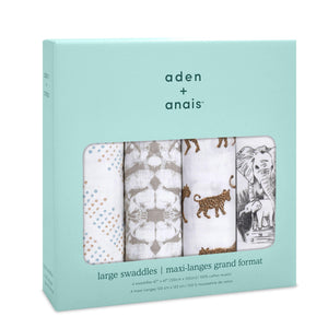 You added <b><u>Aden & Anais 4 Pack Classic Swaddle Wraps - Hear me Roar</u></b> to your cart.