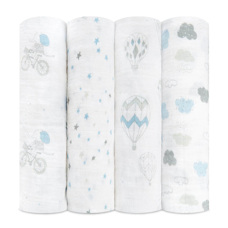 Aden & Anais 4 Pack Classic Swaddle Wraps - Night Sky Reverie