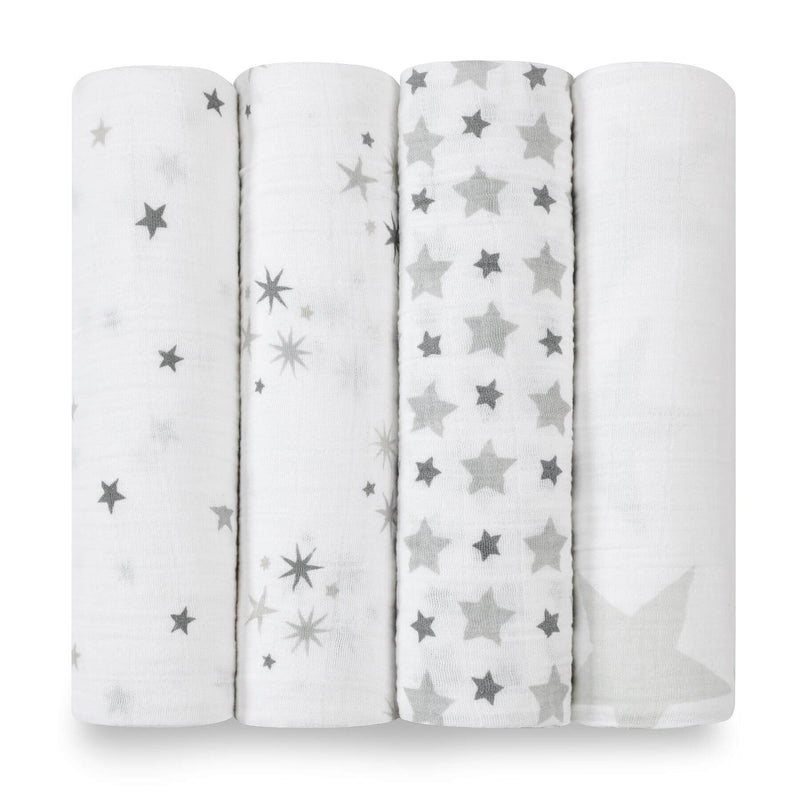 Aden & Anais 4 Pack Classic Swaddle Wraps - Twinkle
