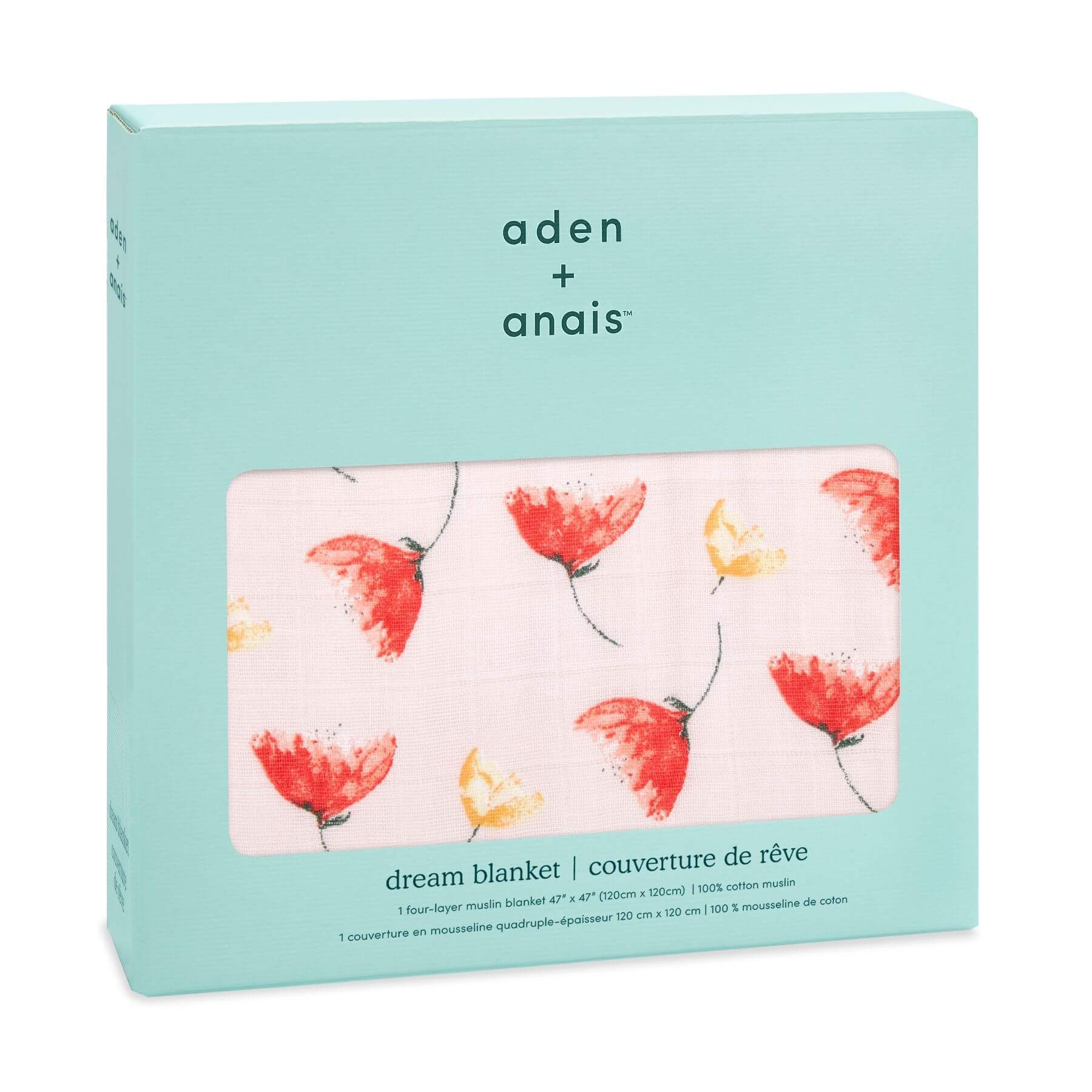 Aden & Anais Classic Dream Blanket - Picked For You/Poppies