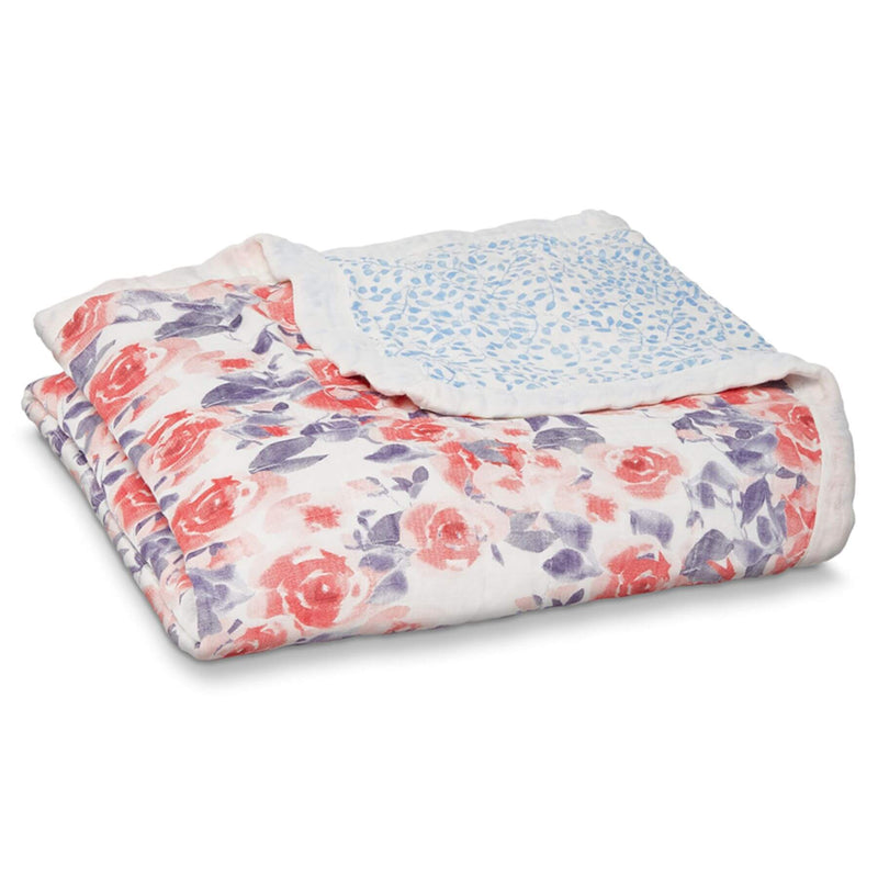 Aden & Anais Silky Soft Dream Blanket - Watercolour Garden/Roses
