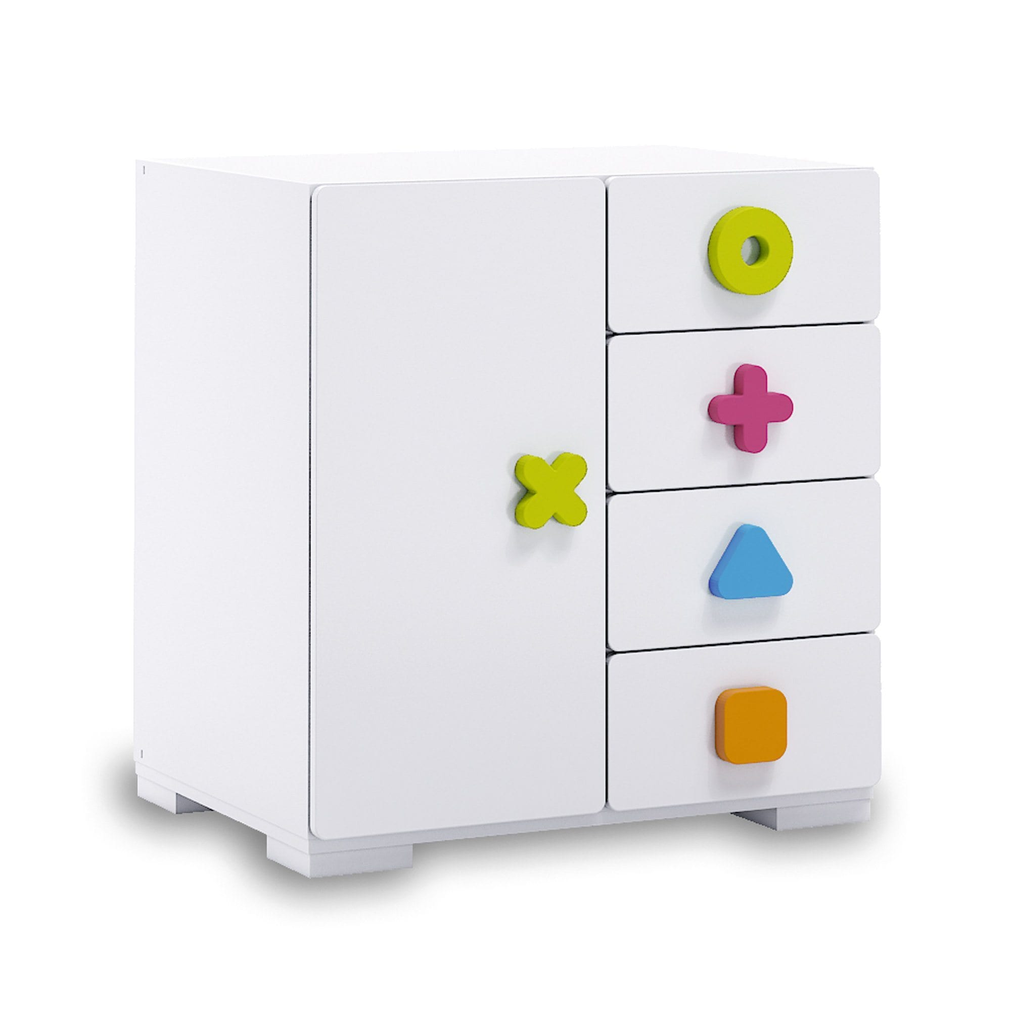 Alondra Infantil Maths 4 Drawer Chest - huggle