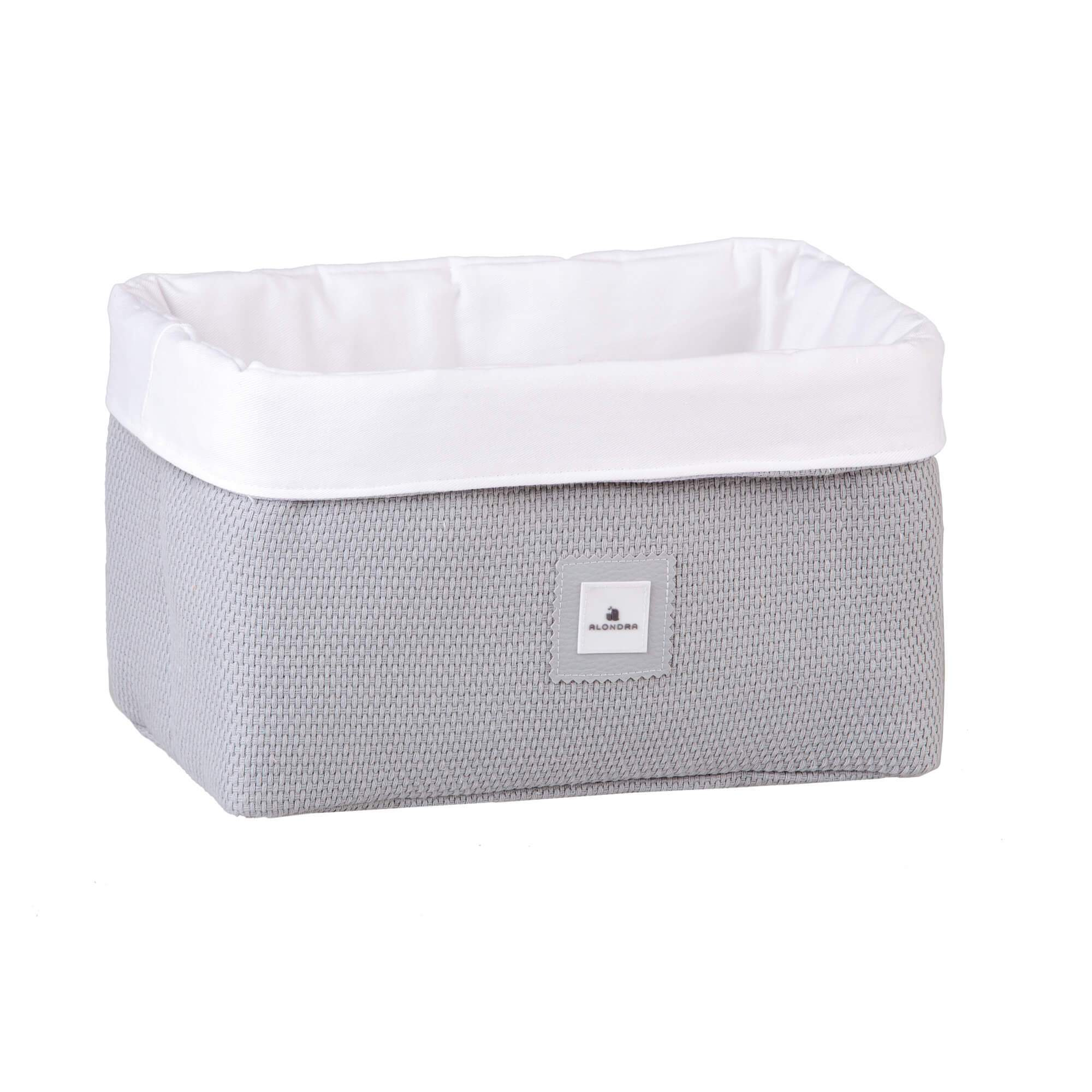 Alondra Padded Baby Basket - Grey Knit