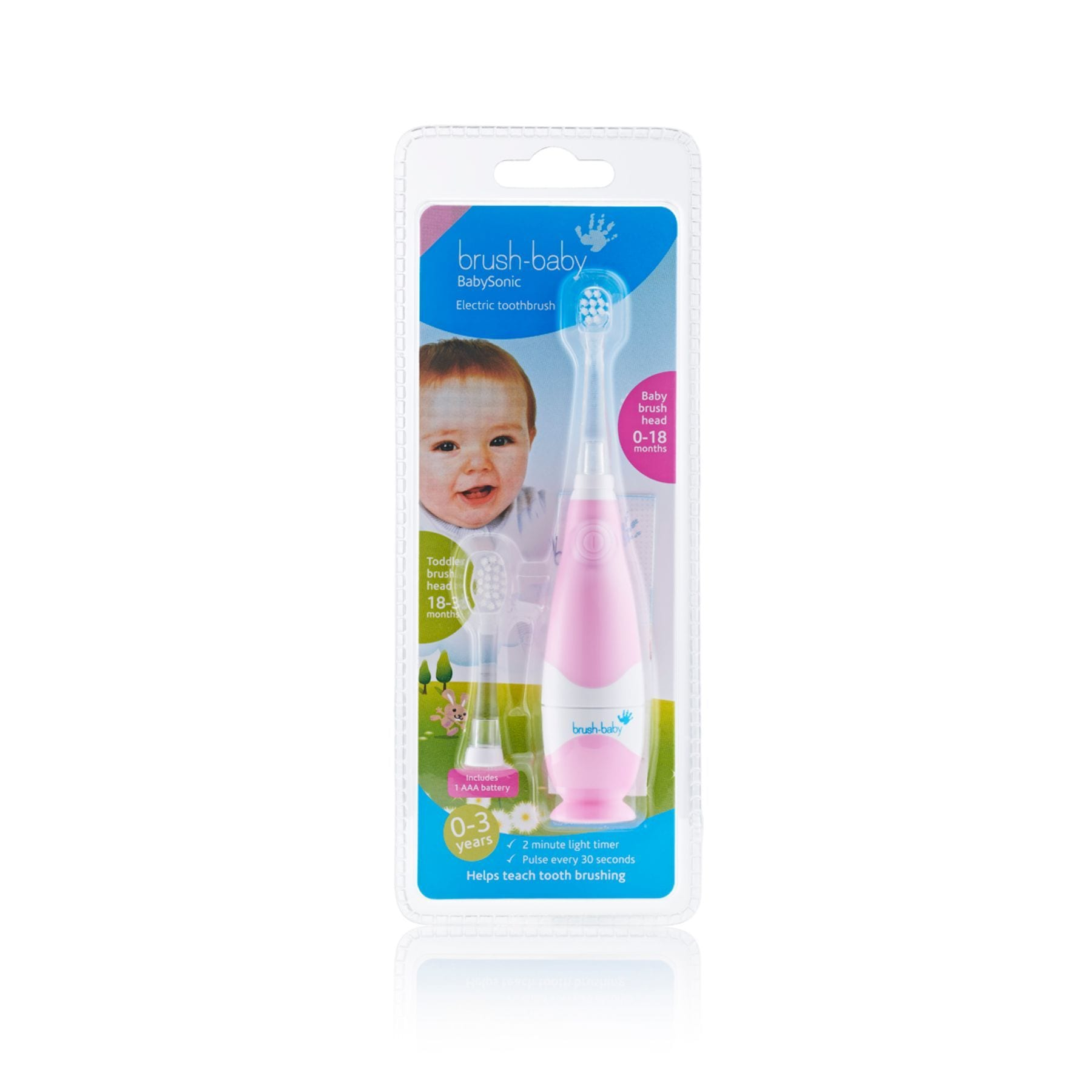 Brush Baby Babysonic Electric Toothbrush - Pink