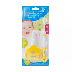 You added <b><u>Brush Baby My FirstBrush & Teether Set</u></b> to your cart.