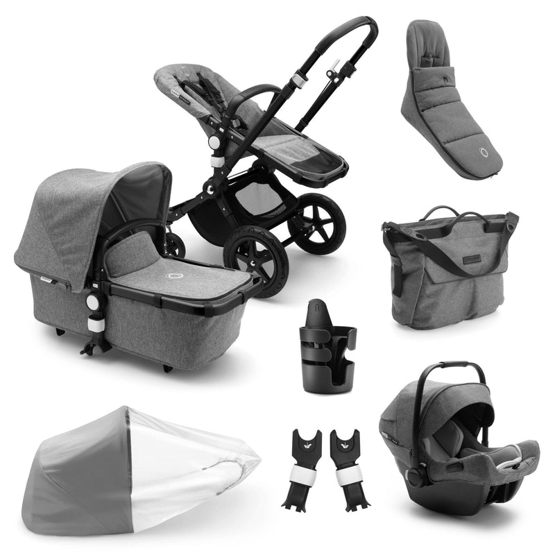 Bugaboo Cameleon Ready To Go Bundle - Black Frame Pushchairs & Accessories Bugaboo