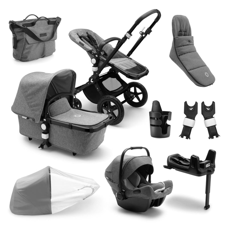 Bugaboo Cameleon Ready To Go Further Bundle - Black Frame Pushchairs & Accessories Bugaboo