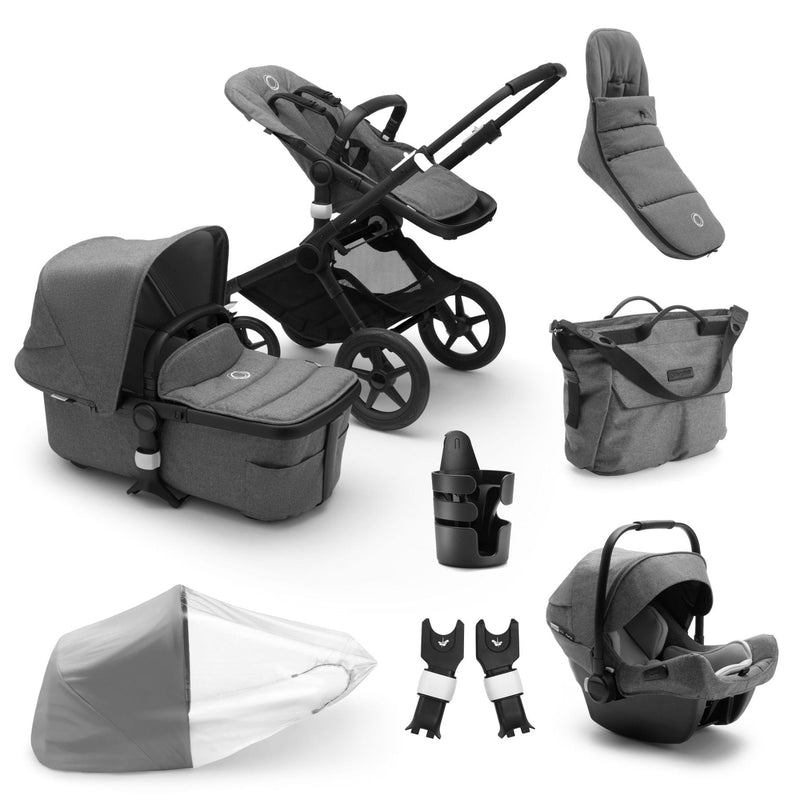 Bugaboo Fox2 Ready To Go Bundle - Black Frame Pushchairs & Accessories Bugaboo