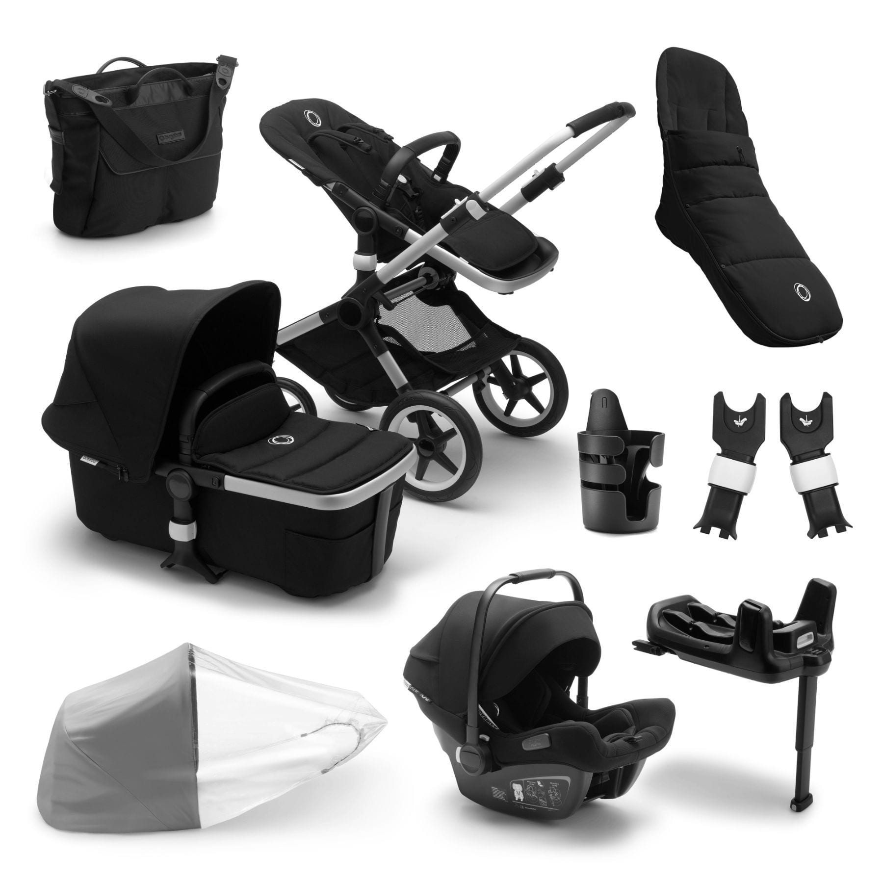 Bugaboo Fox2 Ready To Go Further Bundle - Alu Frame Pushchairs & Accessories Bugaboo