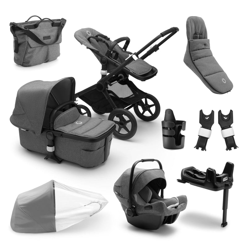 Bugaboo Fox2 Ready To Go Further Bundle - Black Frame Pushchairs & Accessories Bugaboo