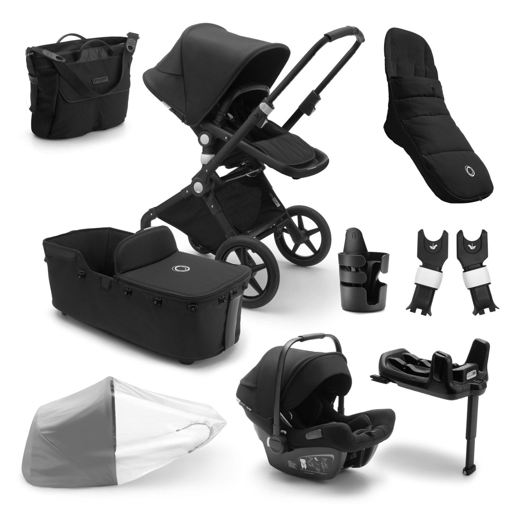 Bugaboo Lynx Ready To Go Further Bundle - Black Frame Pushchairs & Accessories Bugaboo