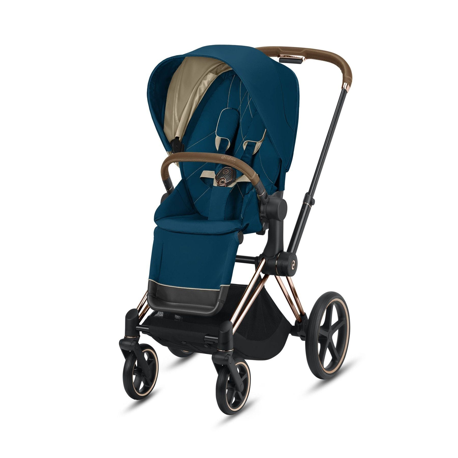 Cybex Rose Gold Priam - Mountain Blue