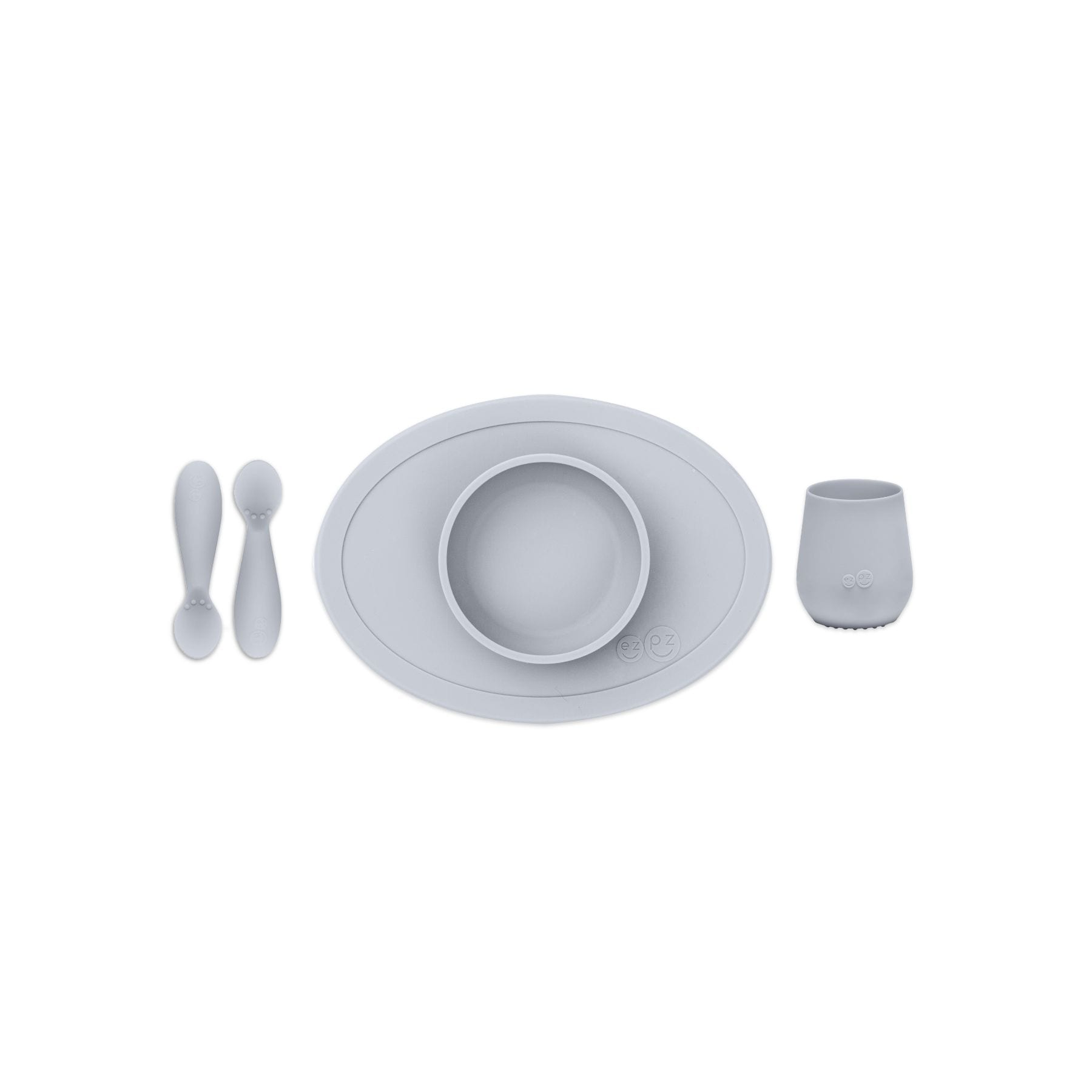 EZPZ Tiny First Food Set - Pewter