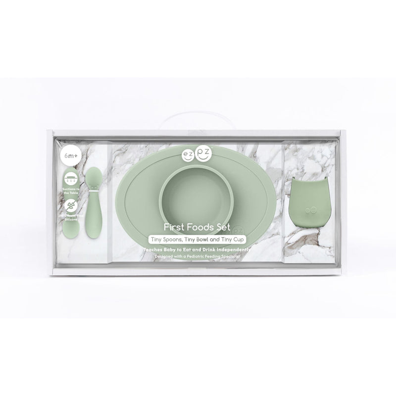 EZPZ Tiny First Food Set - Sage