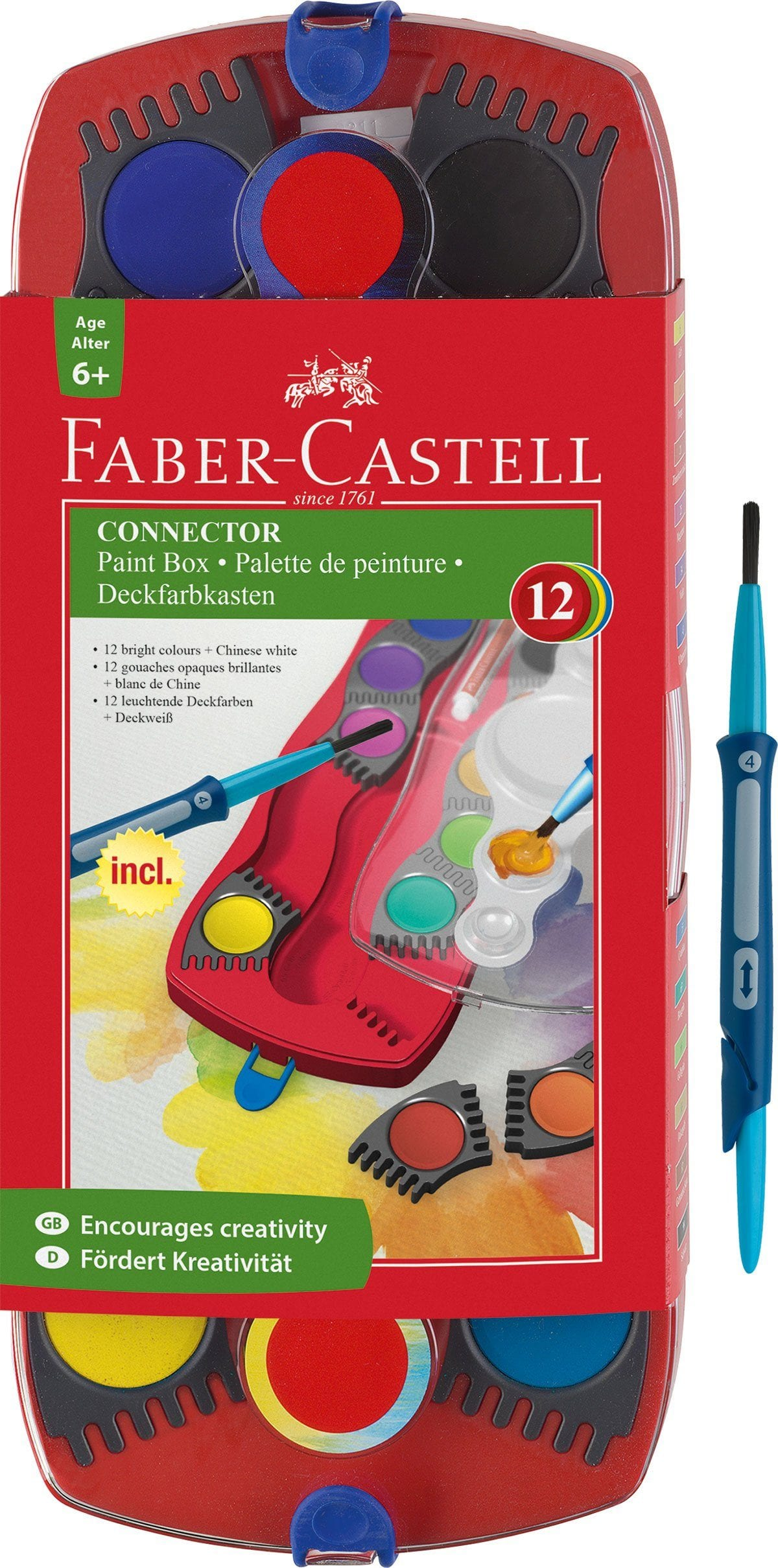 Faber Castell Connector Paint Box - 12 Colours - huggle