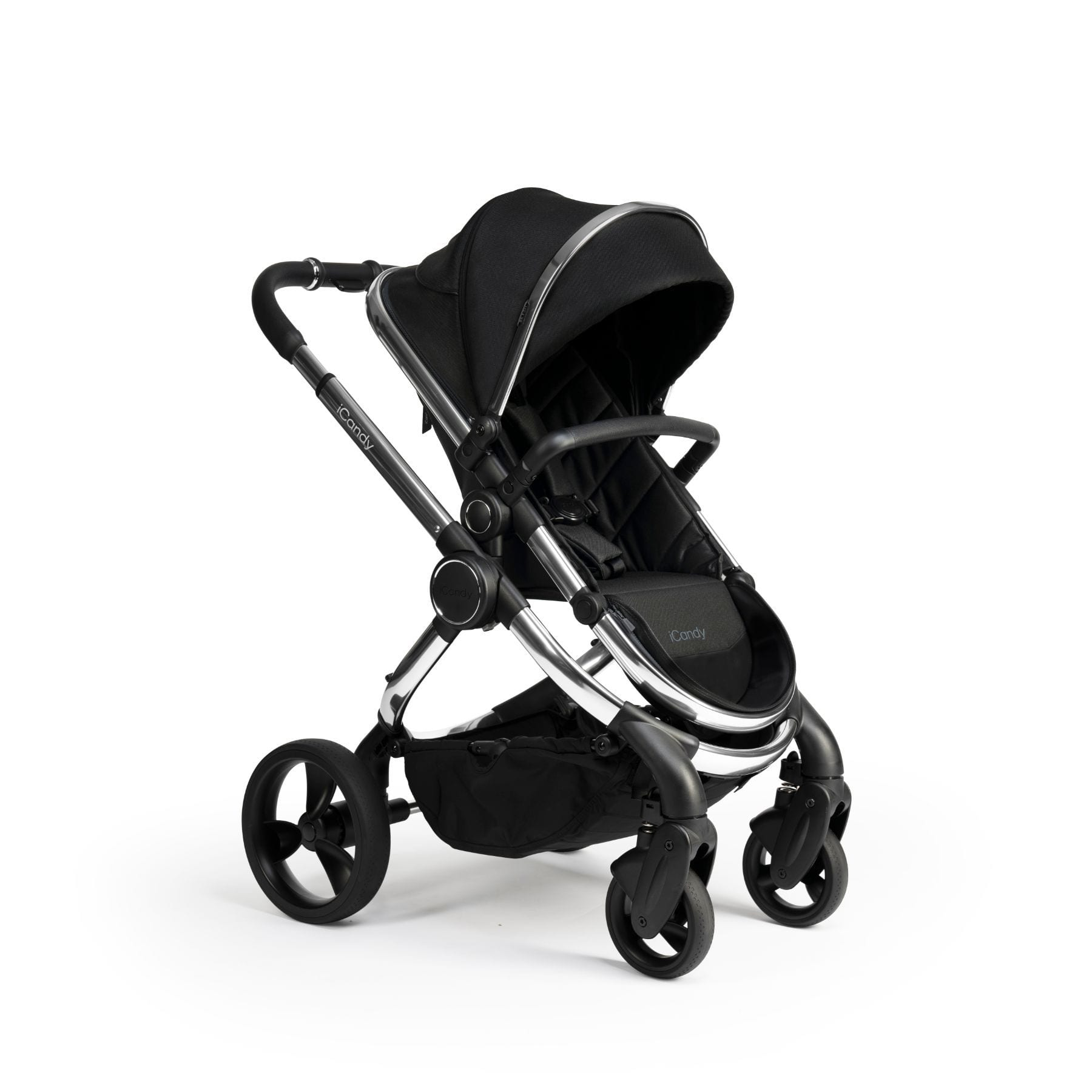 iCandy Peach Chrome Pushchair & Carrycot - Black Twill