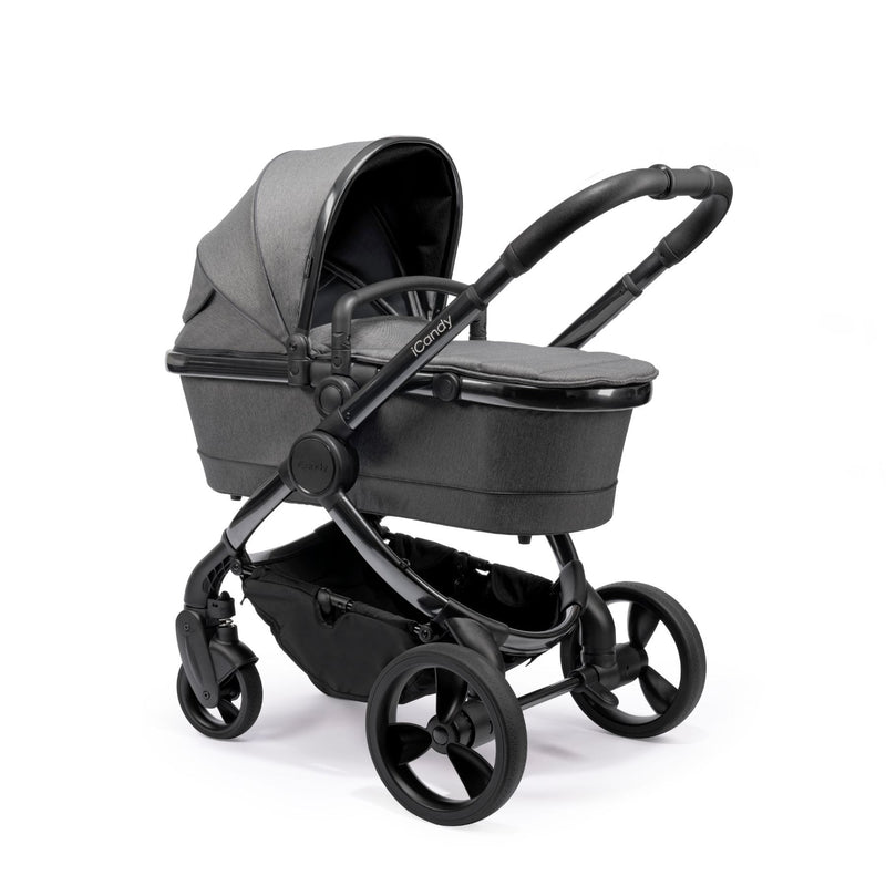 iCandy Peach Phantom Pushchair & Carrycot -Dark Grey Twill