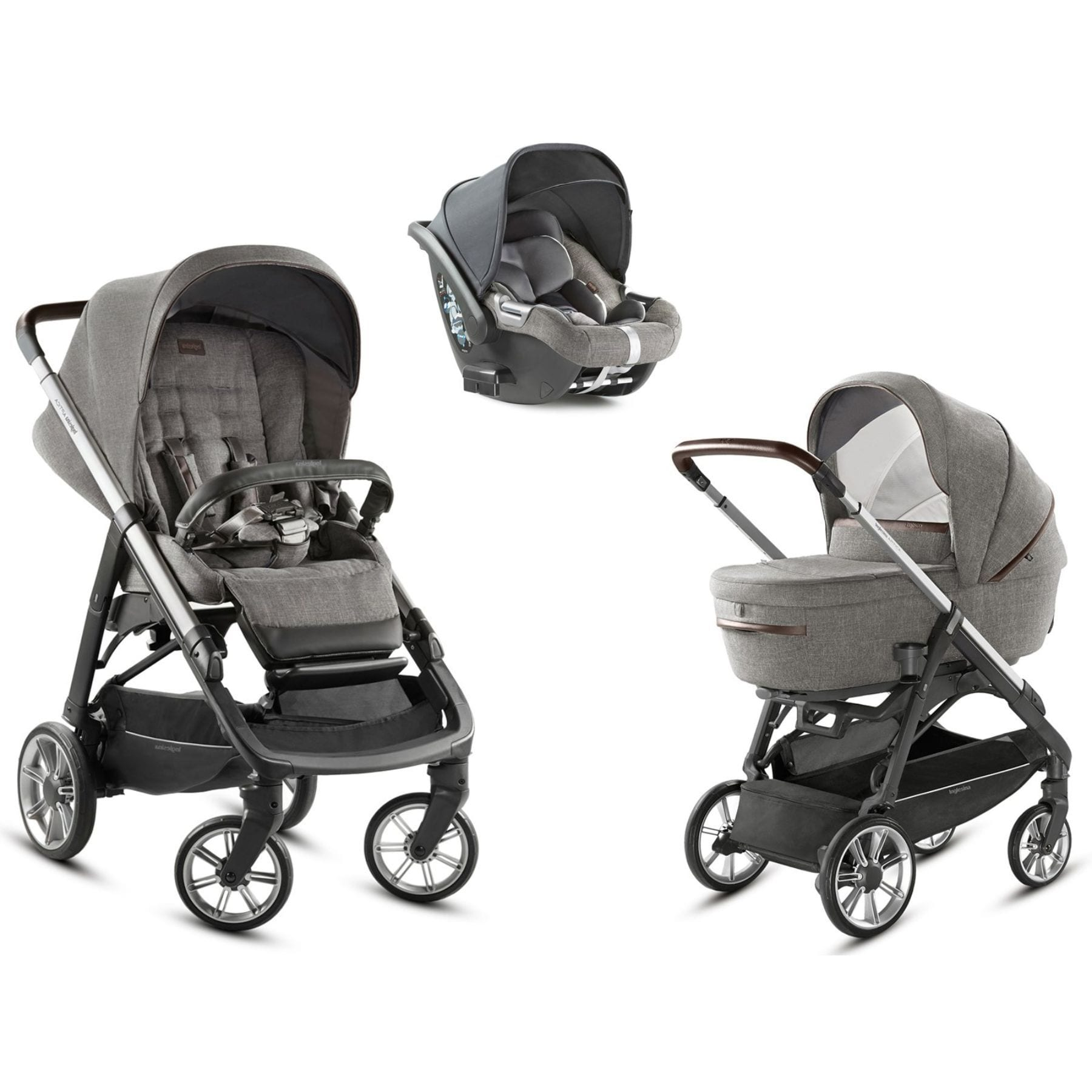 Inglesina Inglesina Aptica 5 Piece Travel System - Kensington Grey