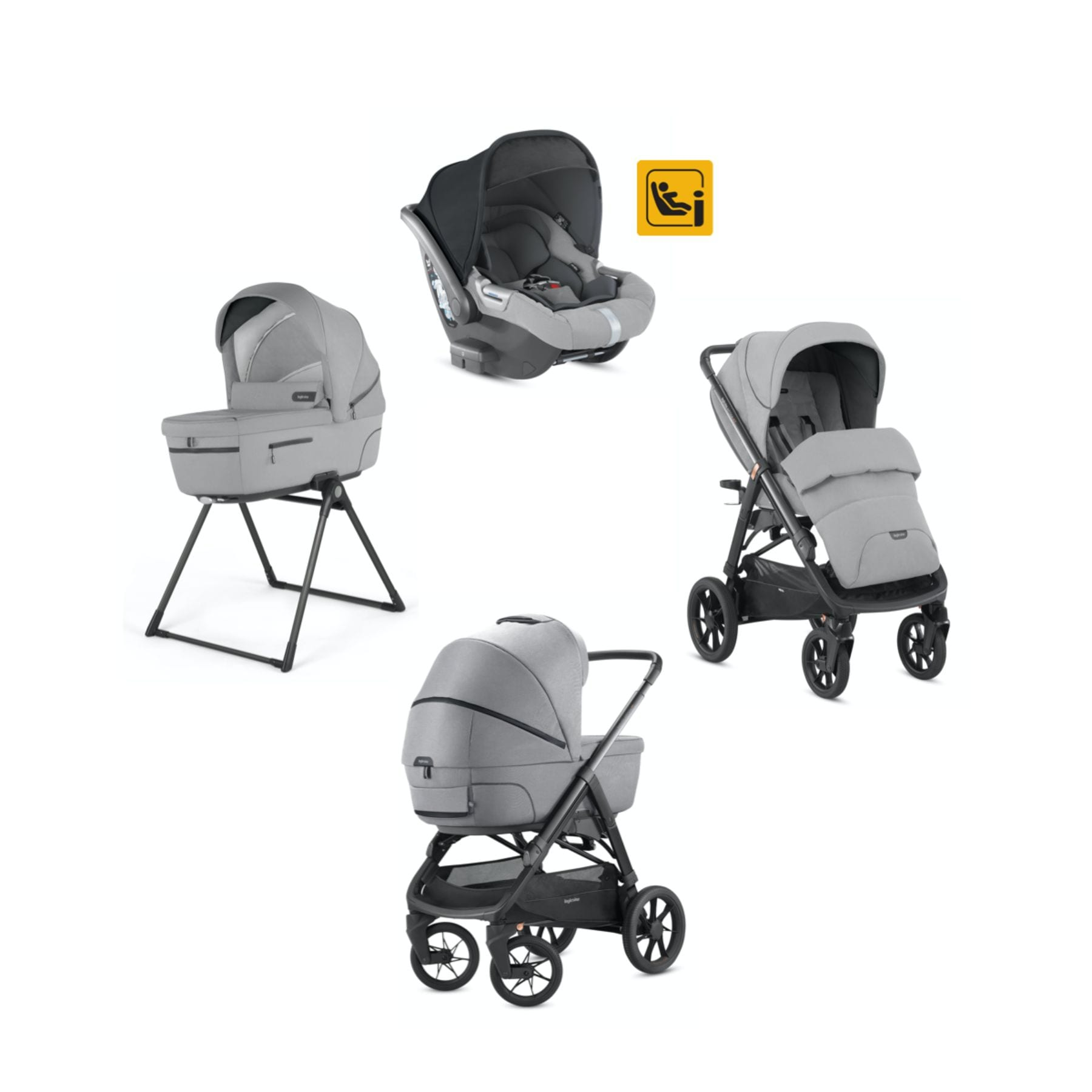 Inglesina Inglesina Aptica XT 5 Piece Travel System - Horizon Grey