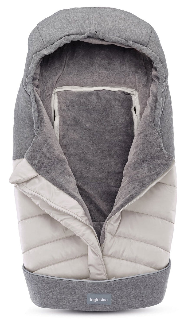 Inglesina newborn winter muff for pram & car seat - silver