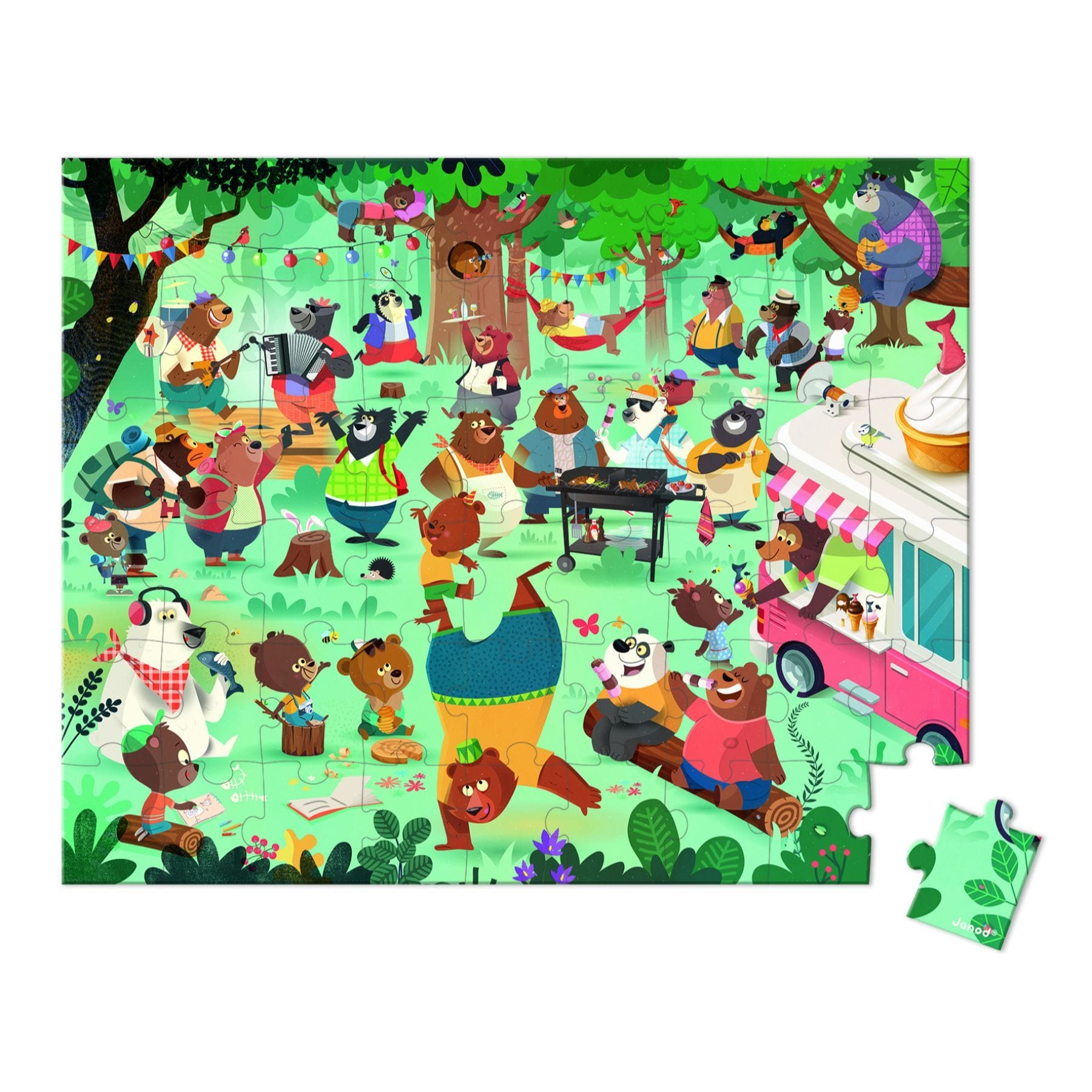 Janod 54 Piece Puzzle - Family Bears