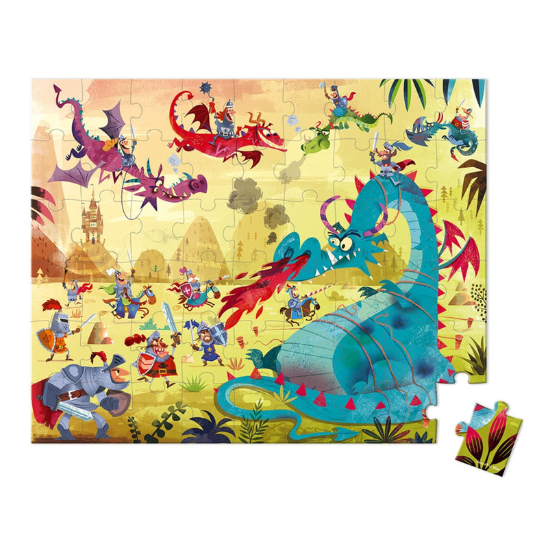 Janod Hat Boxed 54 Piece Puzzle - Dragons