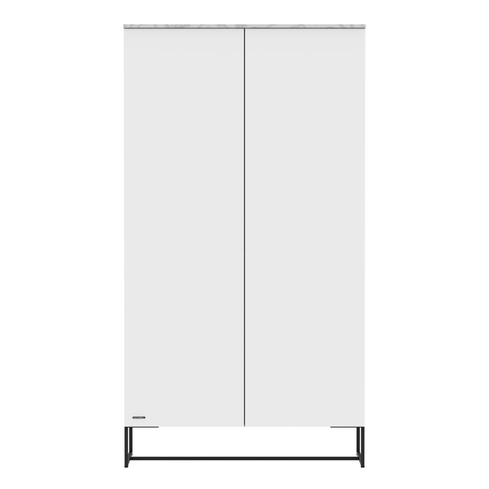 KIDSMILL Intense 2 Door Wardrobe - White with Black Legs