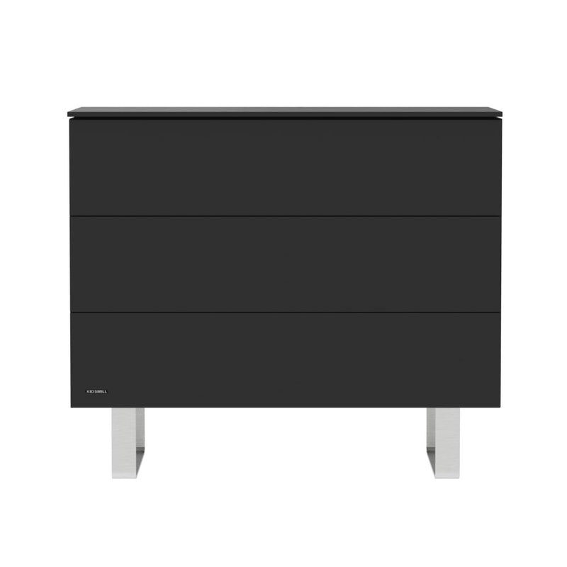 KIDSMILL Intense Chest - Black with Stainless Steel Legs