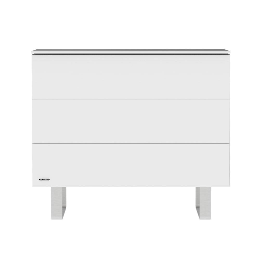 KIDSMILL Intense Chest - White with Stainless Steel Legs