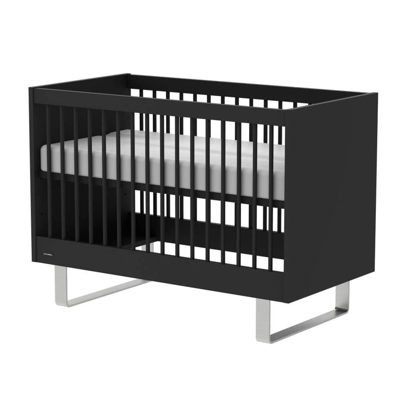 KIDSMILL Intense Cot - Black With Stainless Steel Legs