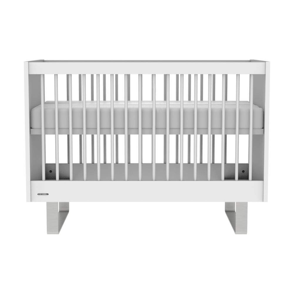 KIDSMILL Intense Cot - White With Stainless Steel Legs