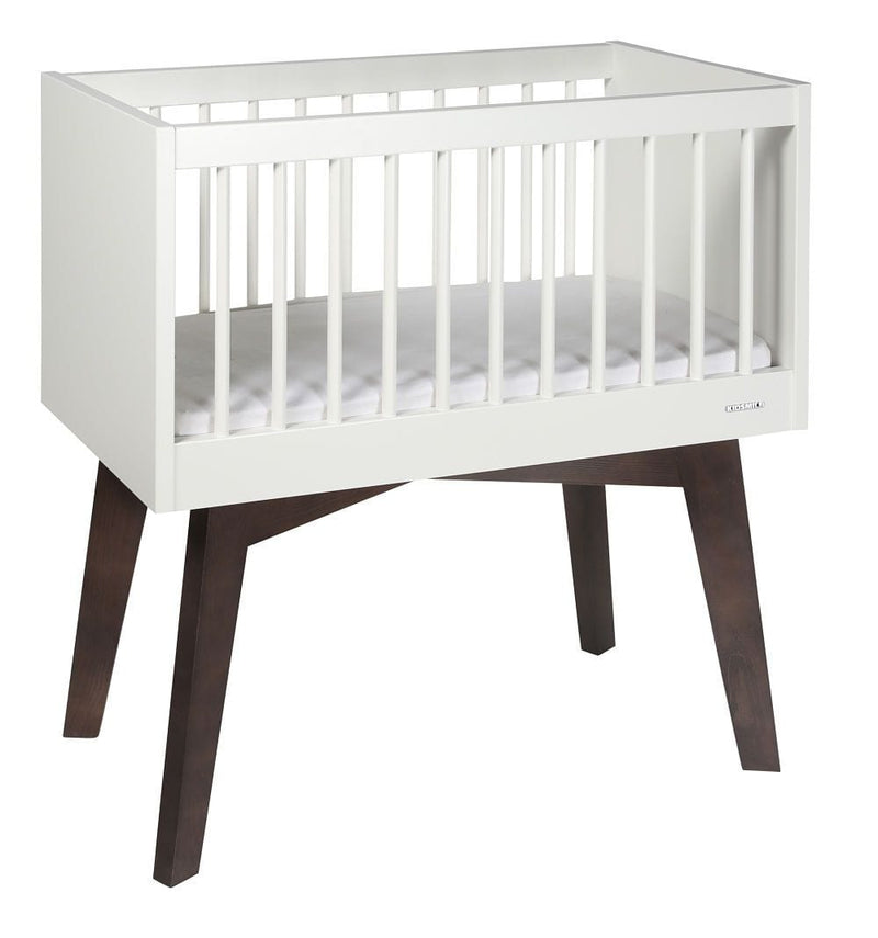 KIDSMILL Sixties White Matt Crib - huggle