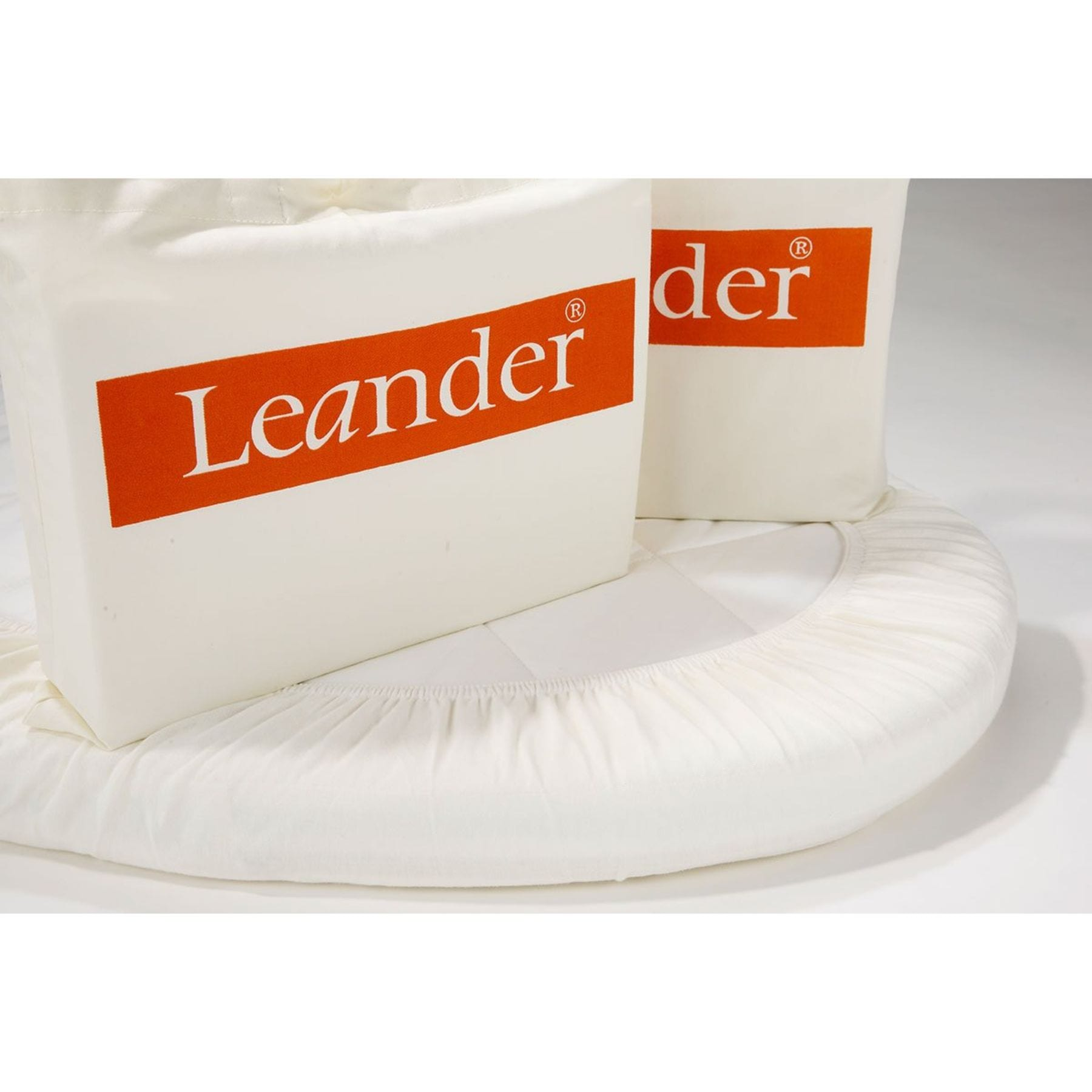 Leander Junior Bed Fitted Sheet Set of 2 - white
