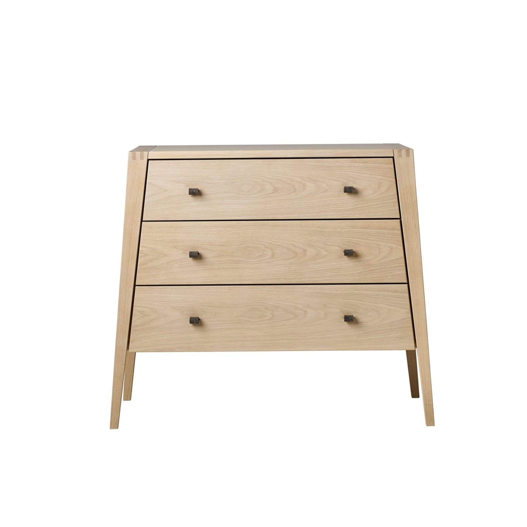 Leander Linea 3 Drawer Dresser - Oak